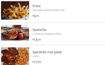 Interactieve digitale menukaart helpt restaurants met hun afhaalbestellingen