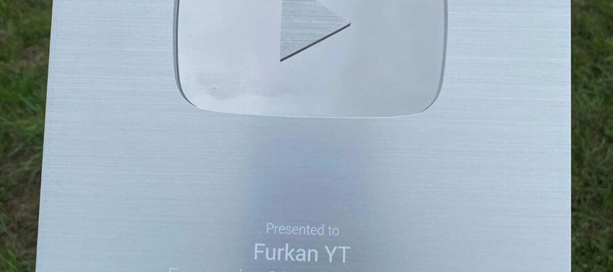 Arnhemmer Furkan YT krijgt zilveren Youtube award