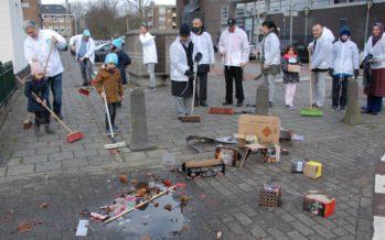 VIDEO DENK Verenigd Arnhem veegt straten schoon in het Broek