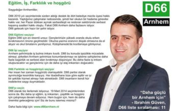 Maakt D66'er Ibrahim Guven de overstap naar DENK Arnhem