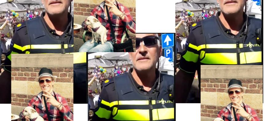 BEELDEN Arnhemse wijkagenten pakken tijdens jaarmarkt bekende vlogger op