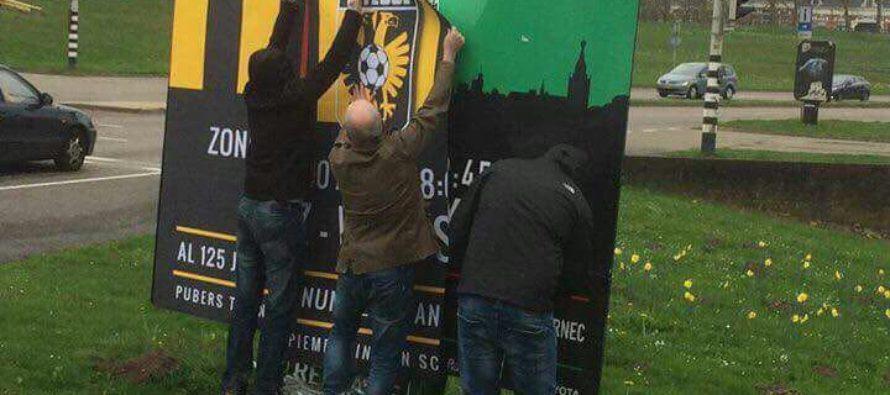 Trotse Vitesse-fans 'promoten' bekerfinale in Nijmegen
