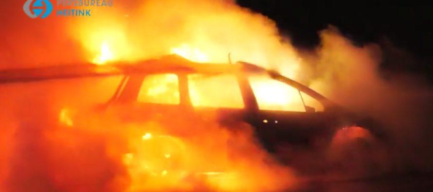 Zondagochtend verdachte (42) aangehouden vanwege autobranden