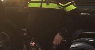 Blonde agente 'verzint' mishandeling tijdens heftige arrestatie Hommelstraat