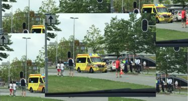 Ambulance total loss na botsing in Presikhaaf