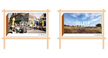 Toeristen verleid met afbeeldingen van binnenstad en Veluwe