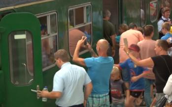 Beelden Ome Joops Tour in de hondekop trein