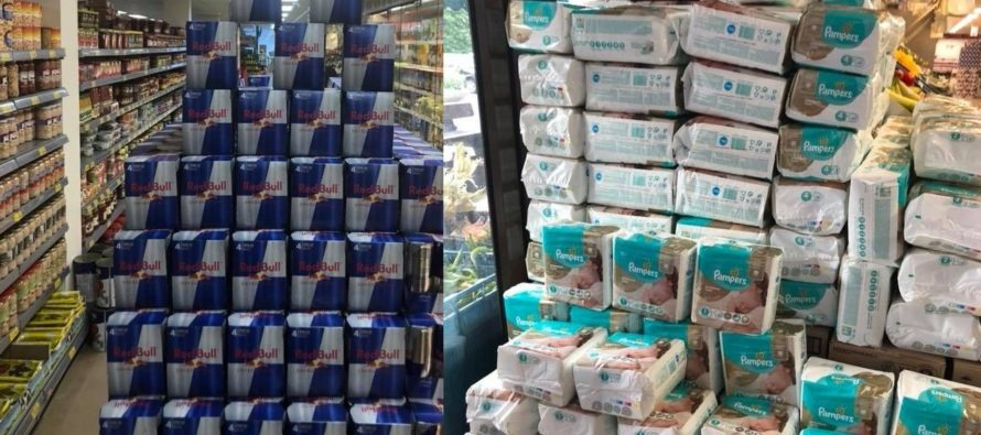 Supermarkt in Arnhem stunt met superaanbieding Pampers en Redbull actie